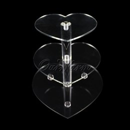 Wholesale Acrylic Cupcake - Wholesale-New 3 Tier Wedding Cake Crystal Stand Clear Acrylic Cupcake Stands for Wedding Decorated Birthday Party Cake Display Supply