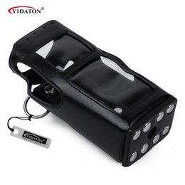 Wholesale Case For Walkie Talkie - Wholesale- MTP850 Leather Case Hard Leather Case For Motorola Tetra MTH600 MTH650 MTH800 MTH850 MTP850 2-way Radio walkie talkie