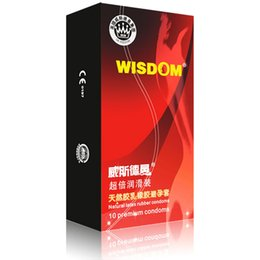 Wholesale Male Latex Condoms - 10pcs box Wisdom quality male ultra thin g spot condoms condones latex big oil lubricate sexe contex sex toys products for man