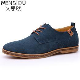 Wholesale Business Casual Hombre - 2017 fashion men casual shoes new spring men flats lace up male business oxfords men leather shoes zapatillas hombre EET01
