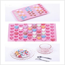 Wholesale Heart Silicone Baking Mould Mold - The silicone chocolate ice mold Love 55 even the heart shape silicone cake mold baking pan IB028