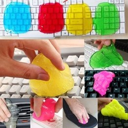 Wholesale Gel Cleans Keyboards - Keyboard Cleaner Flexible Jelly Gel Dust Remover for Computer PC Laptop Keyboard Car Air Vent Home Use Multi-Color