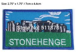 Wholesale England Souvenir - Stonehenge Patch Embroidered Badge UNESCO Souvenir Applique Wiltshire England TV MOVIE Series Costume Emblem applique