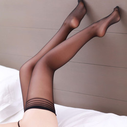 Wholesale Thigh Top Stockings - Wholesale- 2016 Summer style Sexy Women Fashion Ultrathin Lace Top Sheer Thigh High Silk Stockings Long plus size clubwear stocking A530