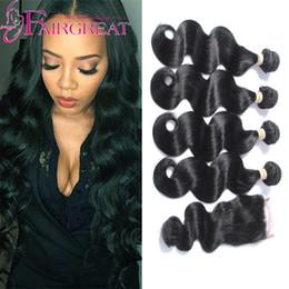 Wholesale Eyelash Lace - brazilian body wave with closure 4 bundles brazilian body wave with Lace Closure Free Gifts Including Eyelash Or Hair Stick