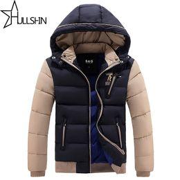 Argentina Al por mayor-2016 gruesa chaqueta de invierno cálido para hombres impermeable cuello de piel Parkas con capucha abrigo de alta calidad abrigo de algodón de estilo occidental WQ8868 supplier wholesale western jackets Suministro