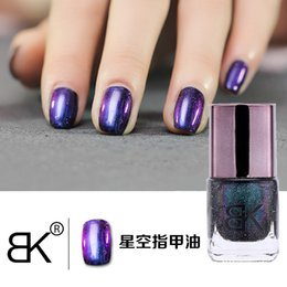 Wholesale Effect Nails - Wholesale- BK Nail Polish 8ML Long lasting Chameleon Polish Nail Varnish Hologram Effect Nail Art Enamel Decoration 8 Colors available