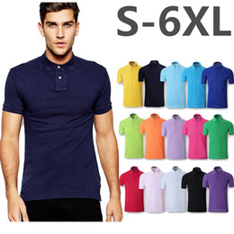 Wholesale High Quality Polo Shirts Wholesale - Men Polo High quality Big Horse Embroidery Poloshirt Casual Polo Shirts Short Sleeve Tops 2017 Summer Polos Homme Brand Clothing
