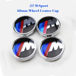 Wholesale M Wheels - Good quality 60mm car wheel center caps for M logo auto emblem covers E60 E90 F10 F30 F15 E63 E64 E65 E86 E89 E85 E91 E92 E93 F02
