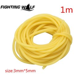 Wholesale Wholesale Hunting Equipment - 1M 3x5mm Natural Latex Slingshots Rubber Tube Tubing Band For Hunting Shooting Catapult Elastic Part Fitness Bungee Equipment * for sports.