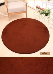 Wholesale Anti Skid Mats - 1pc 80cm Thick floor Rug Area Soft Solid Anti-skid Area Carpets for Living Dining Bedroom Fluffy Flokati Shaggy Home Mats Rug CD003