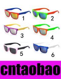 Wholesale Glasses Frames For Kids - 6 options Reflective Kids Sunglasses Brand Designer Sun Glasses for Children Boys Girls Fashion Eyewares Oval UV 400 Eyewares Gafas de Sol