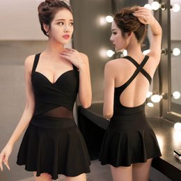 Wholesale Trade Swimwear - Steel support gather split sports clothes swimsuit lady in conservative South Korean female Swimsuit Swimwear trade