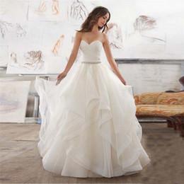 vestidos brancos pretos da recepção de casamento Desconto Nova Marca Zip Ruffle Wedding Dress com contas de luxo vestido de noiva querida Custom Made Vestido de Noiva