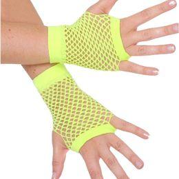 Wholesale fingerless fashion gloves - Wholesale- Summer Fingerless Girls Mesh Gothic Gloves Fishnet Punk Rock Glove Costume Fancy Dress Party Accessories S3