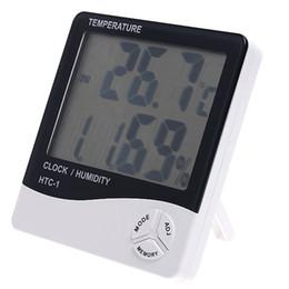 Wholesale Digital Lcd Display Clock - Digital Thermometer Hygrometer Clock Temperature Humidity Meter Calendar LCD 10% ~ 99% Display H596