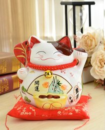 Wholesale Shop Ideas - Lucky Cat piggy piggy large ceramic ornaments shops opened a Home Furnishing birthday gift ideas