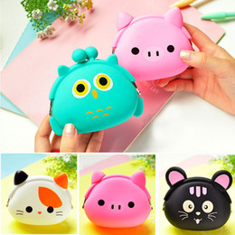Wholesale Multicolor Candy Shorts - New Fashion Lovely Kawaii Candy Color Cartoon Animal Women Girls Wallet Multicolor Jelly Silicone Coin Bag Purse Kid Gift
