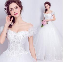 Wholesale Hubble Bubble Dress - New Arrival Hot Sale Fashion Luxury Princess Organza Hubble-Bubble Sleeve Absorption Palace Beading Bridal Wedding Dress