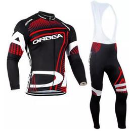 Wholesale Orbea Long Sleeve Cycling Jerseys - 2017 Pro Team ORBEA Cycling Clothing Long sleeves Autumn Spring Mem Cycling jersey MTB bike Ropa Ciclismo Cycle Sportswear Set