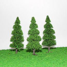 Wholesale Plastic Train Trees - Wholesale- S0405 10pcs Model Train Trees Pine Railroad Scenery Layout HO OO Scale NEW