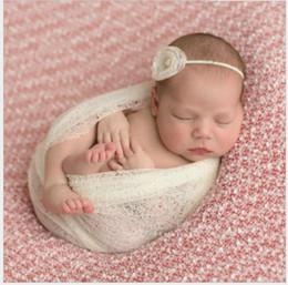 Wholesale Newborn Hammock Baby - 50*160cm Stretch Knit Wrap Newborn Photography Props Baby Baby blanket Hammock Swaddlings Toddler Posing Wrap 7colors