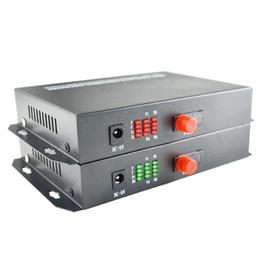 Receptor de transmissor de fibra óptica on-line-20 km 8 canais de vídeo digital de fibra óptica conversores de mídia receptor transmissor para câmeras analógicas cctv sistema de vigilância