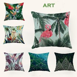 Wholesale Christmas Handmade Gift Pattern - Home Sofa Throw Pillowcase Pure Color Polyester White Print pattern pillow Cushion Cover Decor Pillow Case Blank christmas Decor Gift