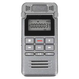 Wholesale Voice Activated Dictaphones - Wholesale-8G LCD Digital Voice Activated Rechargeable Audio Recorder Dictaphone MP3 Player
