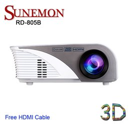 Wholesale Video Projector Cameras - Wholesale-Free shipping original RD-805B mini led Projector Full HD 1080P Home theater projecting camera LED video home Multimedia GP802A