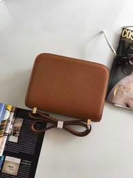 Wholesale Light Blue Satchel - hot sale real epsom leather shoulder hermesbag Constance crossbody bags