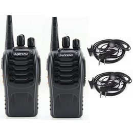 Wholesale Used Mountain - Wholesale- 2pcs baofeng 888s Hunting 3km Mini Walkie Talkie Professional with Interphones,use for wild field,mountain,high buildings