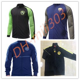 Wholesale Men S Uniform Jackets - 17 18 Club America cougar Jacket Soccer Jersey Football Shirts Equipment Long Sleeve outdoor LA galaxy tracksuits jacket Uniform
