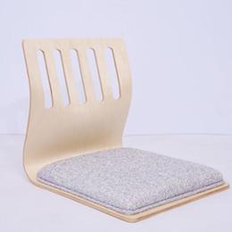 Wholesale Tatami Wood - (2pcs lot) Zaisu Floor Chair Traditional Japanese Furniture Tatami Chair Design Living Room Floor Tatami Zaisu Legless Chair