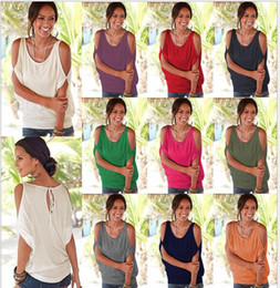 Wholesale Mix T Shirts - Women Crewneck Silk Milk T-shi Tee Solid Hollow Out Half Sleeve Fashion Summer Casual Loose Off Shoulder Blouse Top Shirts Blouse Mix Colors