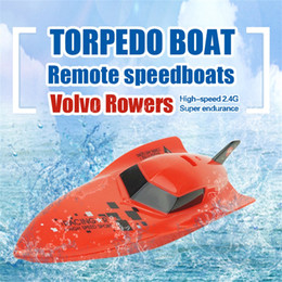 Wholesale Toy Boat Races - Wholesale- JJRC red yellow style Remote control ship Remote Control Boat RC 4CH 2.4G Racing Waterproof Remote Outdoor Toys dropship ag8 P30