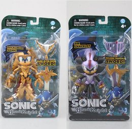 Wholesale Sonic Pvc - Anime Excalibur Sonic and the Black Knight 1 9 scale painted PVC Action Figure Collectible Model Toy 12-14cm