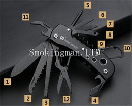 Wholesale Multifunctional Rescue Knife - In Stock Outdoor Rescue Tool Knife Multi Function Knife Multifunctional Survival Army Knife Pocket Folding Pocket 91mm Multifunctional