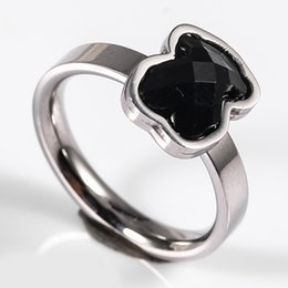 Wholesale Black Rings For Women - TL gold plated silver plated stainless steel bear ring 2 colours for women high quality brand jewelry