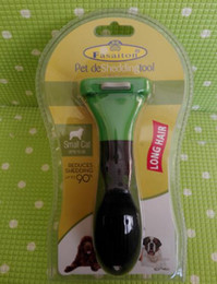 Wholesale Grooming Clippers - 100pcs Pet brush for grooming cleaning small green wiht Ejector button dog brush