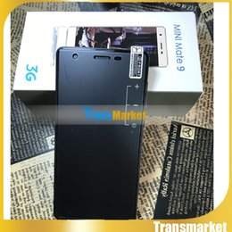 Wholesale Cheap 4g Smartphone - Mini mate9 cell phones 5.0 inch MTK6572 Dual Core 512M 4G 2MPcamera android Smartphone Cheap Smart Phone With Box 3 colors tnt post