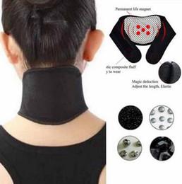 Massaggiatore di calore online-Assistenza sanitaria Riscaldamento autonomo Tourmaline Magnetico Collo Terapia del calore Supporto Cintura avvolgente Brace Massaggiatore Sottile Attrezzatura CCA6575 500 pezzi