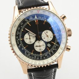 Wholesale Mens Rose Gold Chronograph - Luxury Chronograph Quartz movement Watches AAA rose gold case steel watch 1884 Silver Skeleton Pointer Three Tone speed Editon mens watches