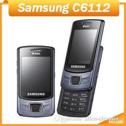Wholesale Cheap Dual Phones - Cheap Original phone Samsung C6112 FM Camera Bluetooth dual sim cards Cell phone Refurbished