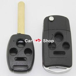 Wholesale Honda Pilot Remote Key - Folding Flip Remote Key Shell Case Fob 3+1 Button for Honda Accord Civic Pilot