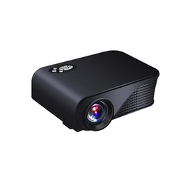 Wholesale projector 3d full hd - Wholesale-2016 Newest 1800 Lumens Mini Pico Portable 3D Projector HDMI USB Home Theater Beamer Multimedia Proyector Full HD 1080P Video