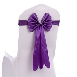 Wholesale Satin Ribbon Band - Chair Covers Sashes Band Top Quality Free Chair Sash Ribbon For Wedding Events And Party Decoration Tie Bands 2 59sk