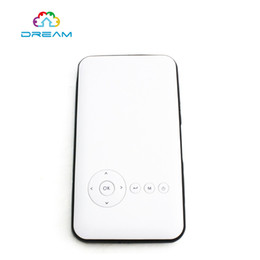 Wholesale Business Building - Wholesale- Original Smart Mini M6 DLP Projector Portable Wifi Projector DLNA Android 4.4 Bluetooth 4.0 Built-in 5000mAh Battery Projector