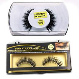 Wholesale Eyelash Hair Extensions - Premium Quality 15 Styles #001- #015 100% real mink eyelashes natural long thick false eyelashes fake lashes extensions handmade eyelashes