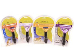 Wholesale Deshedding Tool Dog - Pet Brush for Dog and Cat deShedding Tool Grooming Yellow Long Hair Short Hair for Dog Cat Free Shipping